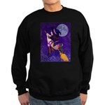 Witch and pussy cat Sweatshirt
