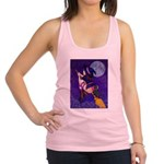 Witch and pussy cat Racerback Tank Top