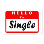 Hello I'm Single Rectangle Sticker