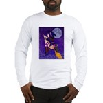 Witch and pussy cat Long Sleeve T-Shirt