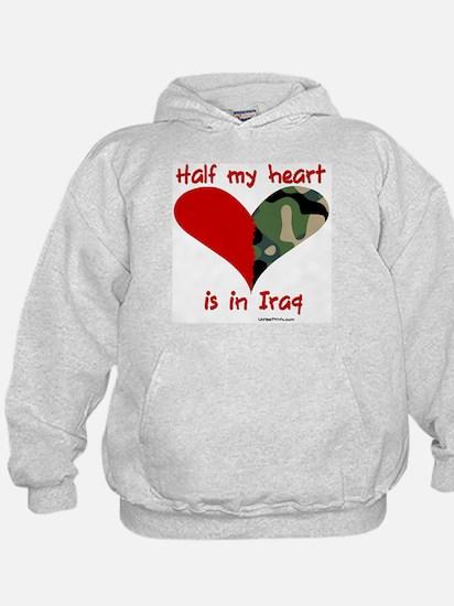 Half my heart is in Iraq Hoodie