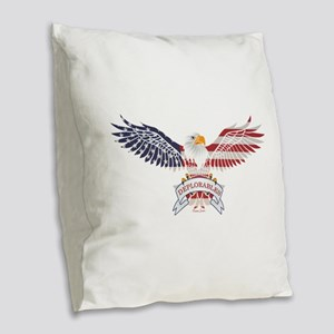Deplorables Burlap Throw Pillow