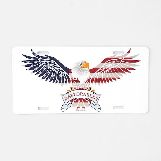 Deplorables Aluminum License Plate