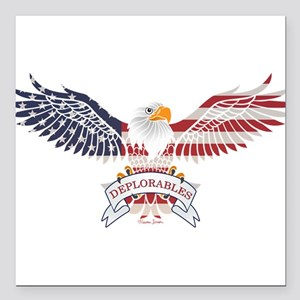 "Deplorables Square Car Magnet 3"" x 3"""