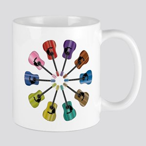 Acoustic Guitar Circle Mugs