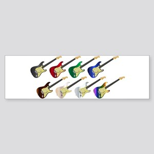 Electric Guitar Collection Bumper Sticker