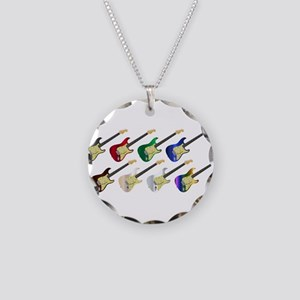 Electric Guitar Collection Necklace Circle Charm