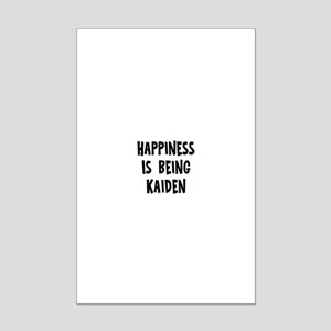 Happiness is being Kaiden Mini Poster Print