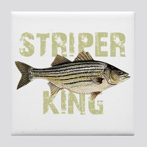 Striper King Tile Coaster