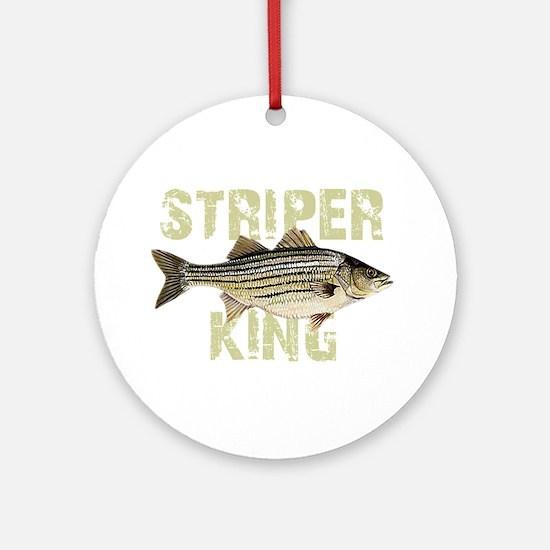 Striper King Round Ornament
