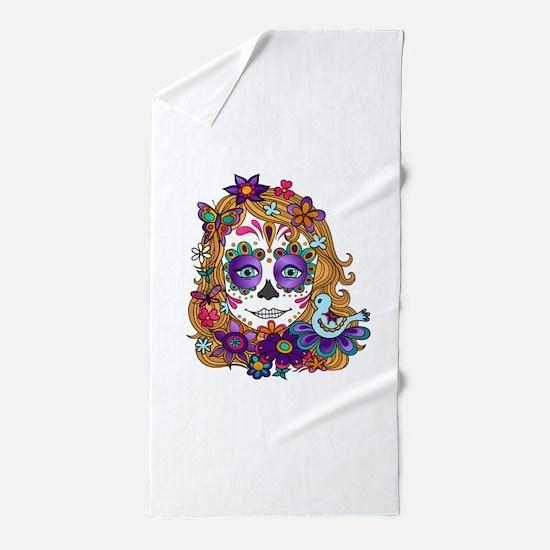 Best Seller Sugar Skull Beach Towel
