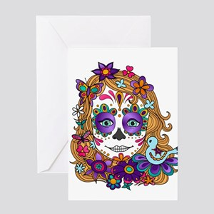 Best Seller Sugar Skull Greeting Cards