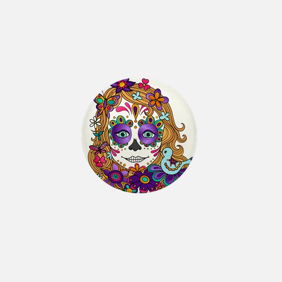 Best Seller Sugar Skull Mini Button