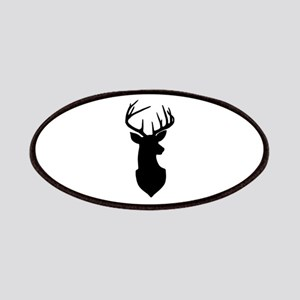 Buck Silhouette Deer with Antlers Patch