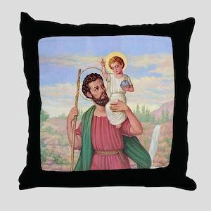 St. Christopher Throw Pillow