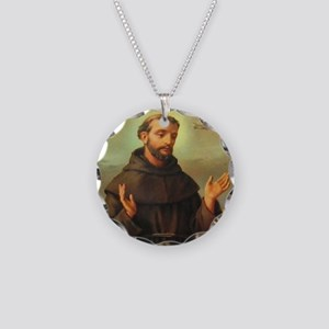 St. Francis of Assisi Necklace Circle Charm