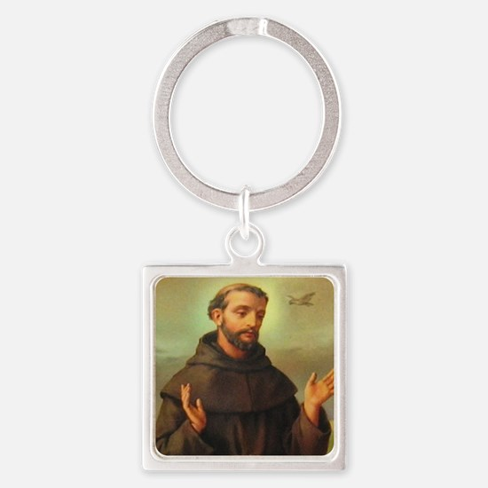 St. Francis of Assisi Square Keychain