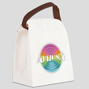 Arizona Rainbow Canvas Lunch Bag