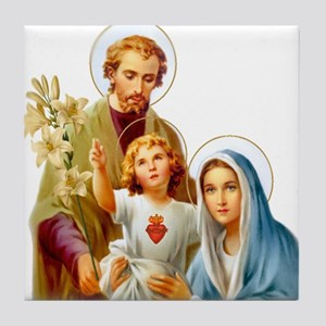 The Holy Family (Style 2) Tile Coaster