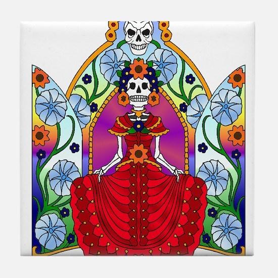 Best Seller Sugar Skull Tile Coaster