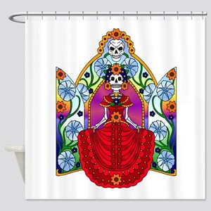 Best Seller Sugar Skull Shower Curtain