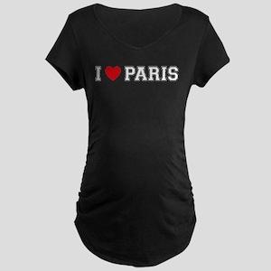 I Love Paris Maternity Dark T-Shirt