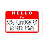 Hello I'm NSTBHT Rectangle Sticker