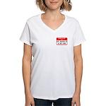 Hello I'm NSTBHT Women's V-Neck T-Shirt