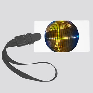 Disco Ball Luggage Tag