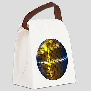 Disco Ball Canvas Lunch Bag