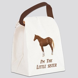 I'm the Little Sister Canvas Lunch Bag