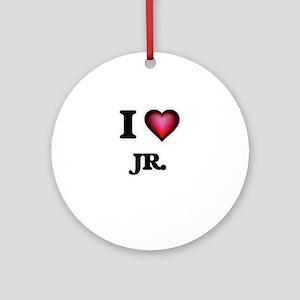 I Love Jr. Round Ornament