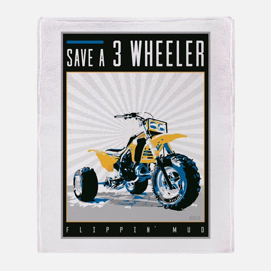 Save a 3Wheeler_Oct16-03.jpg Throw Blanket