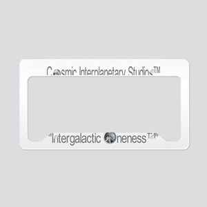 Intergalactic Oneness (TM) Back Logo License Plate
