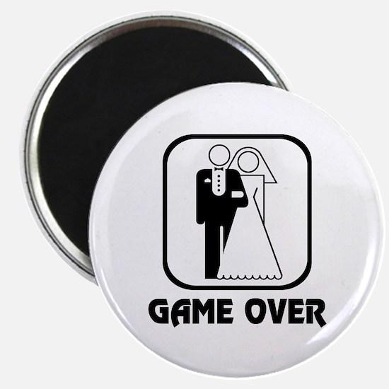 """Wedding Symbol: Game Over 2.25"""" Magnet (10 pack)"""