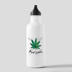 Marijuana Leaf Water Bottle