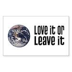 Love It or Leave It: Earth Rectangle Sticker