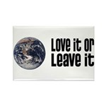 Love It or Leave It: Earth Rectangle Magnet (10 pa