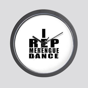 I Rep Merengue Dance Wall Clock