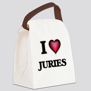 I Love Juries Canvas Lunch Bag