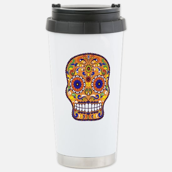 Best Seller Sugar Skull Stainless Steel Travel Mug