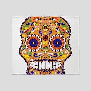 Best Seller Sugar Skull Throw Blanket