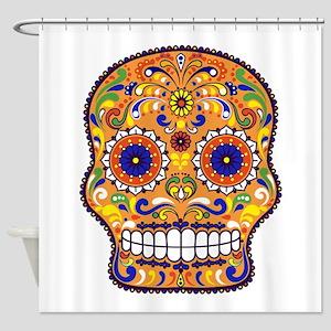 Best Seller Sugar Skull Shower Curtain