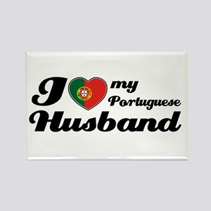 I love my Portuguese husband Rectangle Magnet