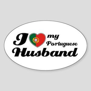 I love my Portuguese husband Oval Sticker