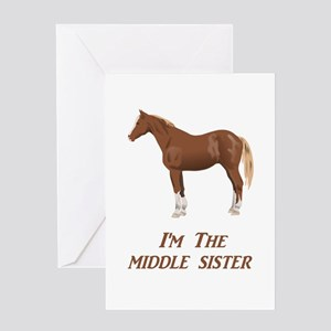 I'm the Middle Sister Greeting Card