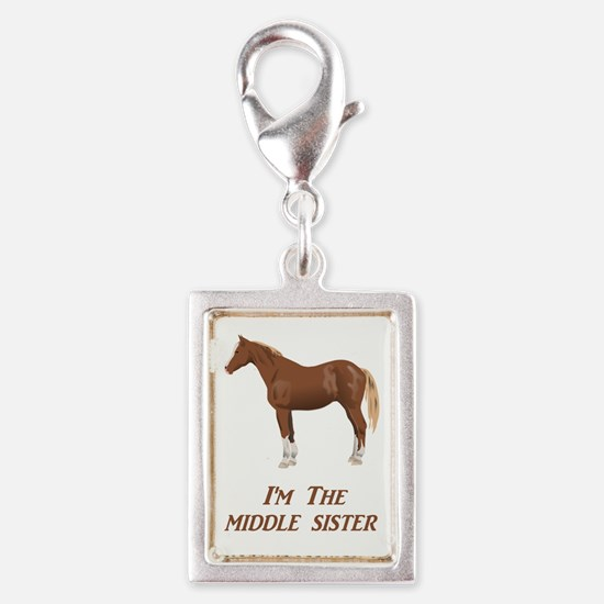 I'm the Middle Sister Silver Portrait Charm