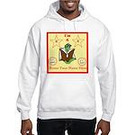 I'm A Bookworm Custom Name/text Hooded Sweatsh