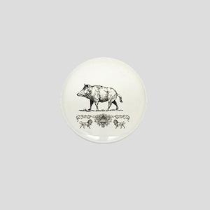 fancy boar art Mini Button