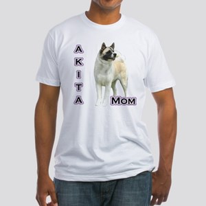 Akita Mom4 Fitted T-Shirt